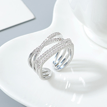 AAA级锆石戒指--相伴一生(白金)