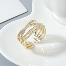 AAA级锆石戒指--相伴一生(14K金)