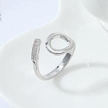 AAA级锆石戒指--永恒(白金)