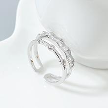 AAA级锆石戒指--小幸运(白金)