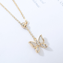 AAA级锆石项链--小蝴蝶(14K金)