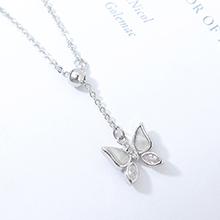 AAA级锆石项链--小蝴蝶(白金)