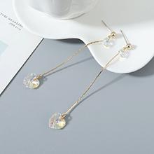 奥地利水晶耳钉--夏日甜心(14K金)