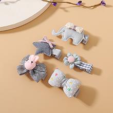 韩版可爱百搭个性五星小象甜美发夹套装
