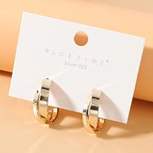 欧美镀真金冷淡风法式仙女系百搭风靡潮流个性S925银针(14K金)