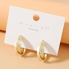 欧美镀真金冷淡风法式仙女系百搭风靡潮流个性S925银针(哑金)