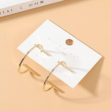 欧美镀真金创意时尚夸张个性百搭镂空S925银针(14K金)