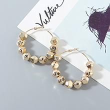 欧美镀真金时尚气质创意夸张百搭大圈圈镂空S925银针