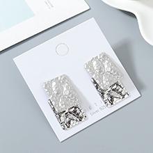 欧美镀真金冷淡风百搭创意夸张时尚个性S925银针(白金+哑银)