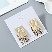 欧美镀真金冷淡风百搭创意夸张时尚个性S925银针(14K金+哑金)