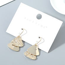 韩版镀真金小清新百搭时尚创意j几何耳环