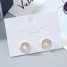 欧美镀真金小众时尚小清新简约百搭小圆圈S925银针