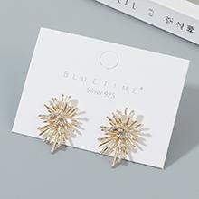 韩版镀真金小众百搭小仙女时尚气质锆石S925银针