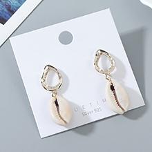 欧美创意法式夸张时尚个性贝壳耳钉