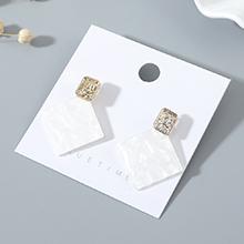 韩版东大门创意时尚百搭流行ins亚克力耳钉(白色)