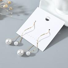 欧美镀真金复古时尚百搭气质创意风靡流行珍珠耳环