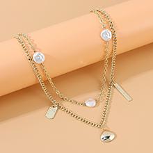 韩版东大门复古时尚百搭气质珍珠双层项链