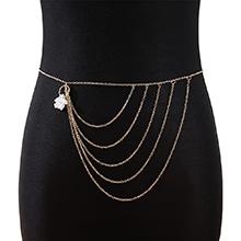 欧美法式复古气质大牌创意珍珠腰链