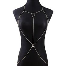 欧美法式百搭性感个性时尚珍珠身体链