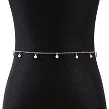 欧美复古时尚个性创意ins潮珍珠腰链