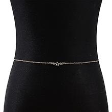 欧美法式时尚百搭简约小清新小五星腰链