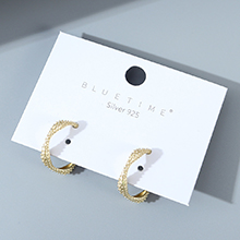 韩版镀真金东大门创意个性夸张百搭时尚小众S925银针(哑金)