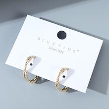 韩版镀真金东大门创意个性夸张百搭时尚小众S925银针(14K金)