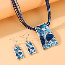 韩版民族风时尚复古个性创意套装(蓝色)