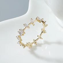 AAA级锆石戒指--情系马德里(14K金)