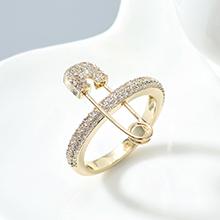 AAA级锆石戒指--爱的别针(14K金)