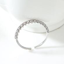 AAA级锆石戒指--王冠(白金)