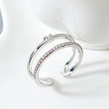 AAA级锆石戒指--小天鹅(白金)