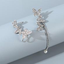 韩版东大门时尚百搭创意个性不对称小蝴蝶耳钉
