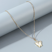 欧美时尚创意百搭流行气质小清新小蝴蝶项链
