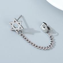 韩版时尚个性东大门百搭创意单边六角星耳钉