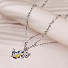 欧美创意百搭小清新甜美小恐龙毛衣链
