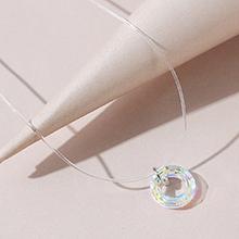 欧美气质百搭闪亮时尚幸运圈水晶项链
