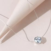 欧美时尚闪亮百搭气质水晶项链