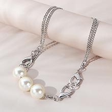 韩版时尚创意个性ins潮复古珍珠项链