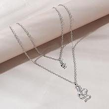 欧美创意百搭个性夸张眼镜蛇双层项链