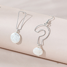 韩版简约时尚复古百搭创意个性不对称珍珠耳环