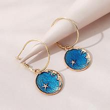 欧美百搭小仙女时尚创意画油小五星耳环