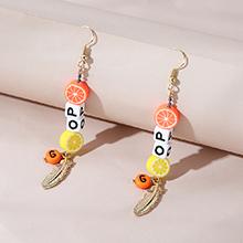 韩版创意时尚流行百搭ins潮字母树叶耳环