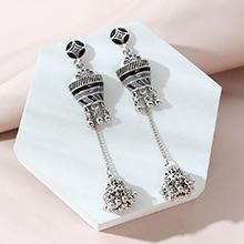韩版民族风创意复古时尚流苏长款耳环