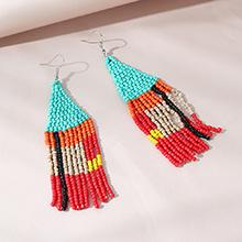 欧美创意个性夸张时尚小米珠耳环