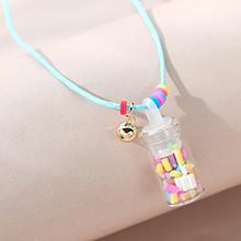 韩版小清新甜美百搭时尚小水瓶儿童项链
