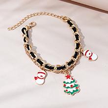 圣诞时尚创意ins潮流行圣诞树雪娃娃手链
