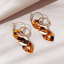 韩版时尚百搭ins潮复古流行树脂耳环