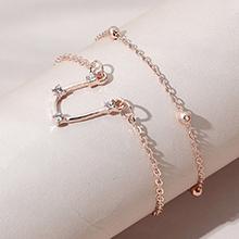 韩版时尚百搭创意气质简约双子座手链套装(玫瑰金)