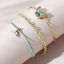 欧美创意时尚个性ins潮流行花蝴蝶手链套装